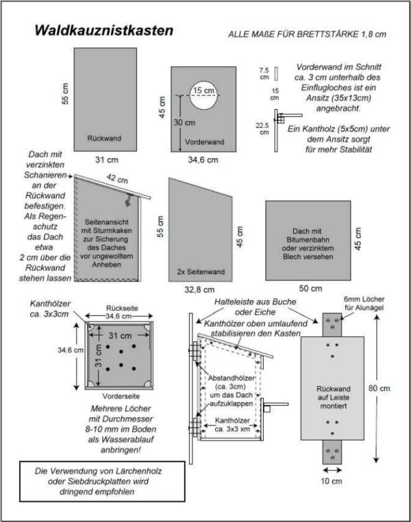 Nistkasten bauanleitung pdf vogelhaus