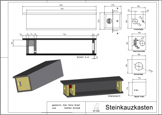 nisthilfen f r den steinkauz ag eulen. Black Bedroom Furniture Sets. Home Design Ideas